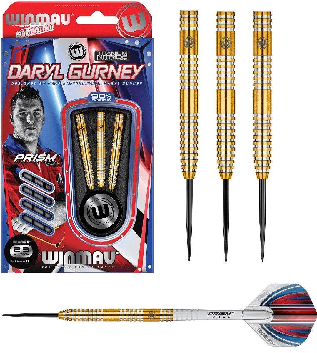 Daryl Gurney Signature Winmau Darts 23g Titanium Nitride Coating Flights & Stems
