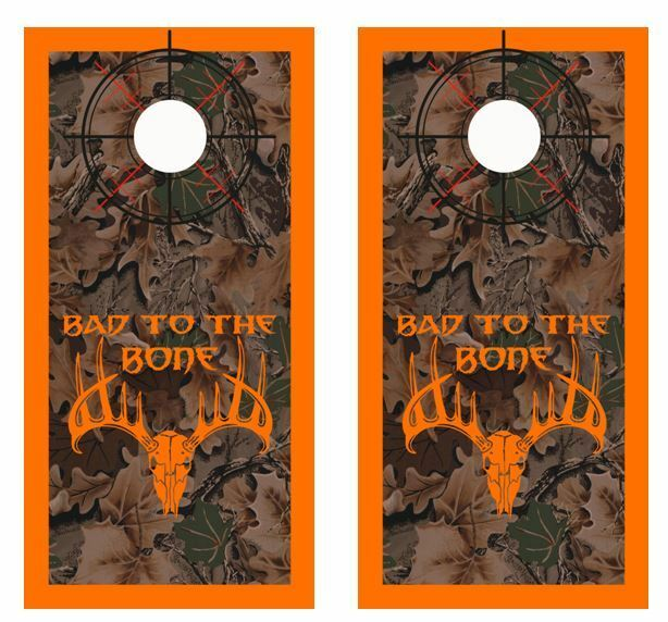 Realtree Camo - Bad To The Bone  - Crosshair - Boarder Cornhole Board Wraps 2603  supply quality product