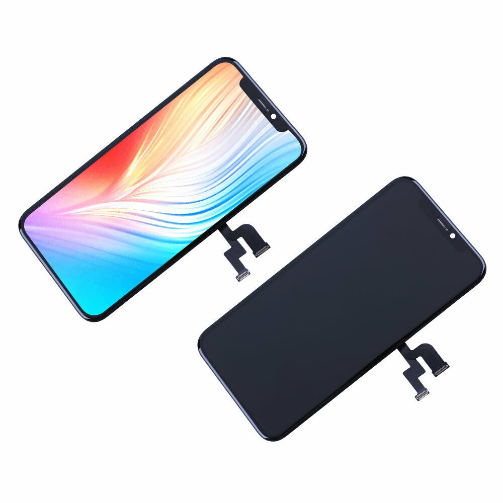 OLED Display 5.8 inch with 3D Touch and Face ID Pre-Assembled for iPhone X Screen Replacement Black Assembly Digitizer Frame with Repair Tools and Waterproof Adhesive