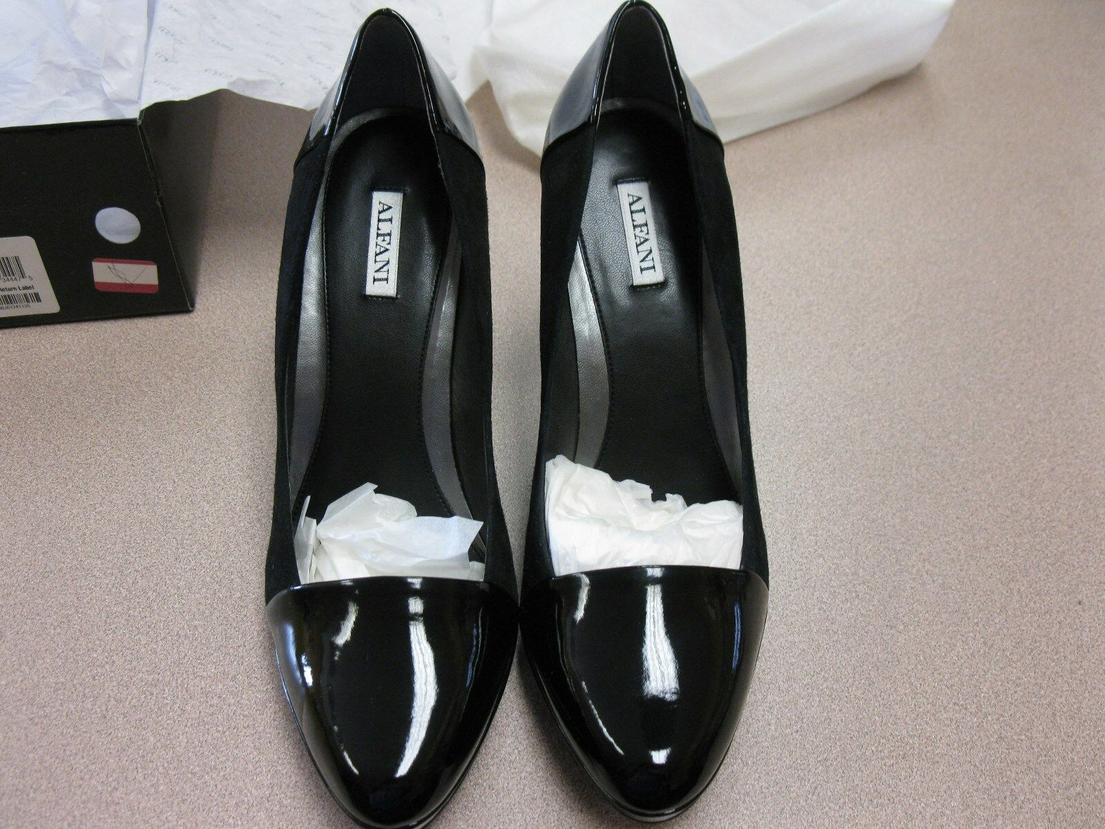 Wouomo Alfani nero Platform Pump Heels 10