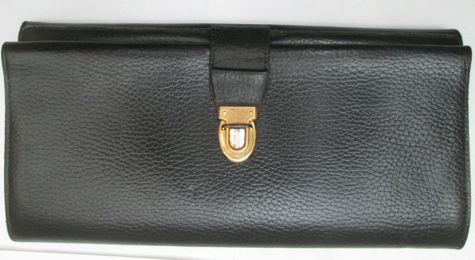 - le tanneur jolie roadmaps pouch leather vintage tbeg 70's