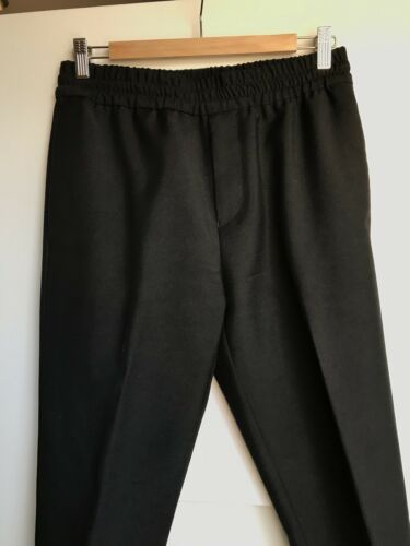 cd08ba2b584d ... ACNE Studios Men Black Elastic Waistband Dress Pants Ryder Trousers  Size 46