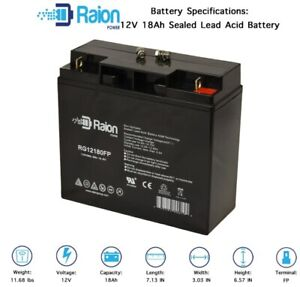 12v 18ah Battery >> Details About 12v 18ah Battery For Chicago Electric 5 In 1 Portable Power Pack 1pk