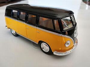 VW-Bus-Combi-Volkswagen-T1-1962-jaune-et-noir-13cm-neuf-metal