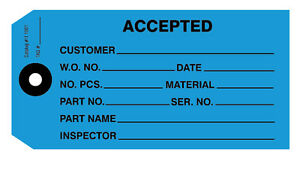 IT1001 Accept, Accepted Tags - Dark Blue Pack of 1000