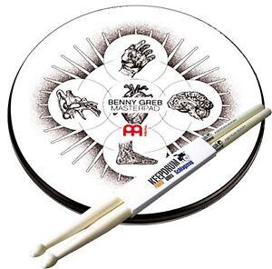 """Glorieux Meinl Mpp-12-bg übungspad Benny Greb 12"""" + Keepdrum Drumsticks-afficher Le Titre D'origine Bon Pour AntipyréTique Et Sucette De La Gorge"""