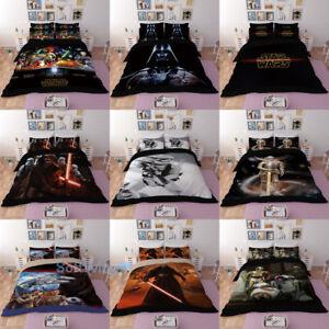 STAR-WARS-Single-Double-Queen-King-Bed-Quilt-Doona-Duvet-Cover-Set-Pillowcase