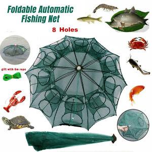 Magic Fishing Trap 5 Holes Full Automatic Folding Shrimp Cage Fish Net Mesh