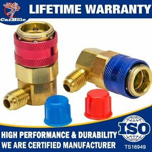 1//4 SAE HVAC CarBole R134A Connector Adapter Manifold Gauge Hose Set Freon Quick Coupler High /& Low Adapters Type A//C Conversion Kits