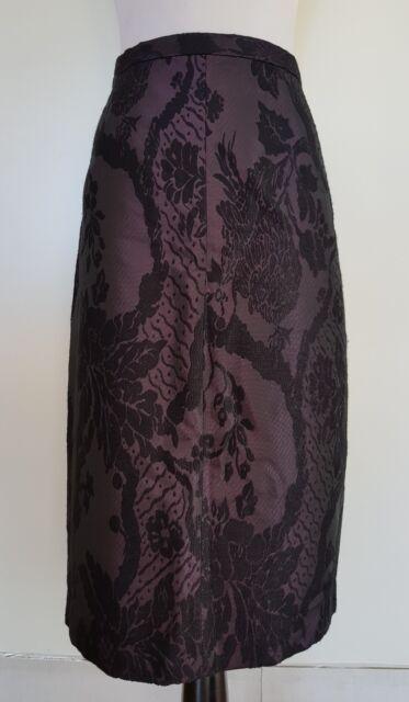 VERONIKA MAINE Plum/Black Skirt Size 16 NWOT