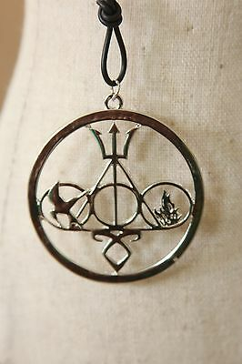 MULTI FANDOM NECKLACE Inspired by harry Potter Percy jackson Mortal hunger
