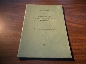 1918 BOSTON ELEVATED RAILWAY COMPANY TRUSTEES FIRST REPORT