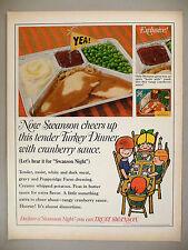 Swanson Frozen TV Dinner PRINT AD - 1968 ~~ Turkey