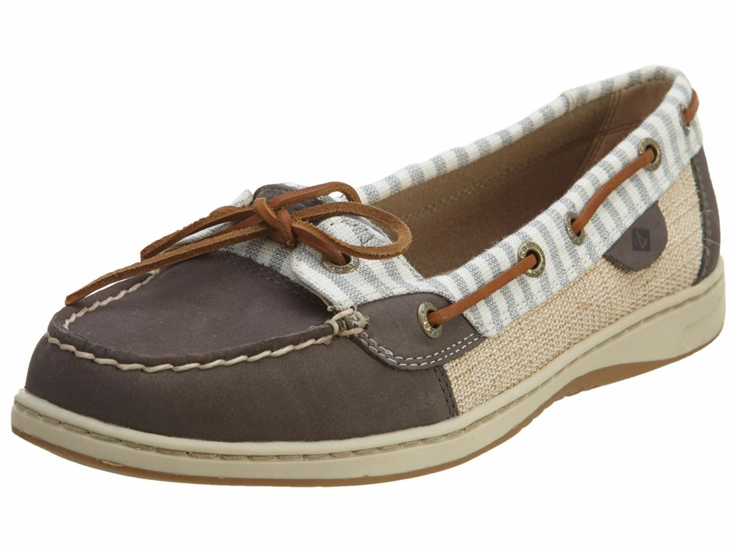 New Women's Sperry Top-Sider Angelfish Stripe Boat Shoes Flats SZ 7 8.5