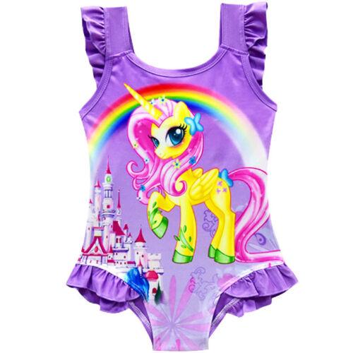 Kid Girl Unicorn Swimwear Swimsuit Beach Wear Summer Swimming Costume Bikini Set