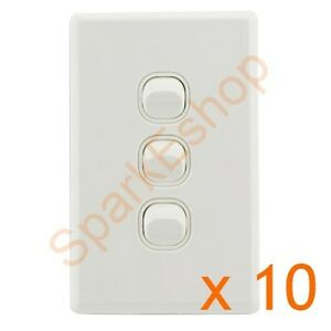 Light-Switch-3-gang-Per-box-of-10-1-80-per-switch-Aust-Approved