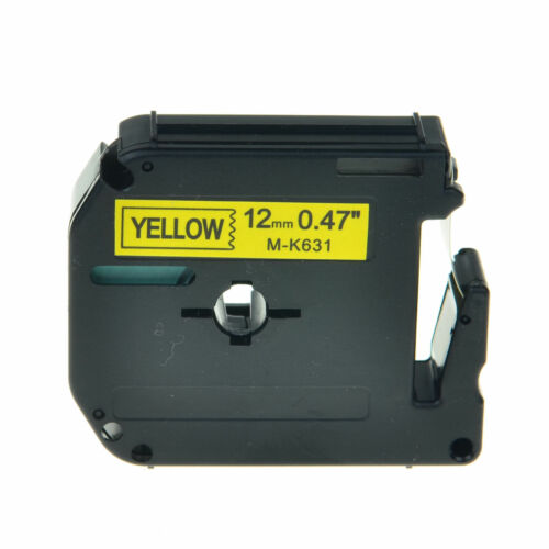 """MK 131 231 431 531 631 731 Label Tape For Brother P-touch PT-100 12mm 3//8/"""""""
