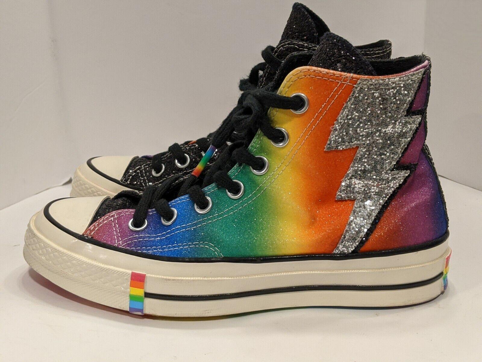 Converse Chuck Taylor All Star 70 Hi Rainbow Pride Lightning Bolt LGBTQ+ Glitter