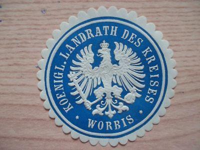 (12198) Siegelmarke - Landrat Des Kreises Worbis Von Der Konsumierenden öFfentlichkeit Hoch Gelobt Und GeschäTzt Zu Werden