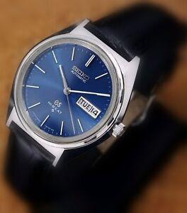 GRAND SEIKO AUTOMATIC HI-BEAT 28800 DAY DATE  BLUE DIAL
