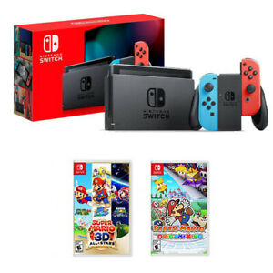 Nintendo Switch Console + Super Mario 3D All-Stars + Paper Mario: Origami King