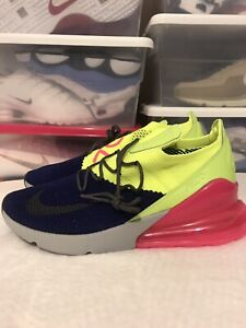 Details about Nike Air Max 270 Flyknit Men's Size 11 Blue Pink Green A01023 501