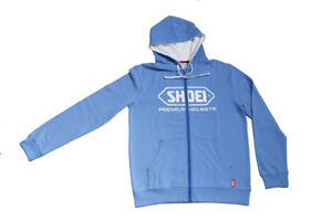 Hoodie Helmets Jacket Shoei Up Zip Branded Azul Premium Hoodie Fleece 55nrH08q