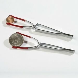 For The Serious Collector!! Lighthouse Plastic-Coated Coin Tongs Heavy Duty