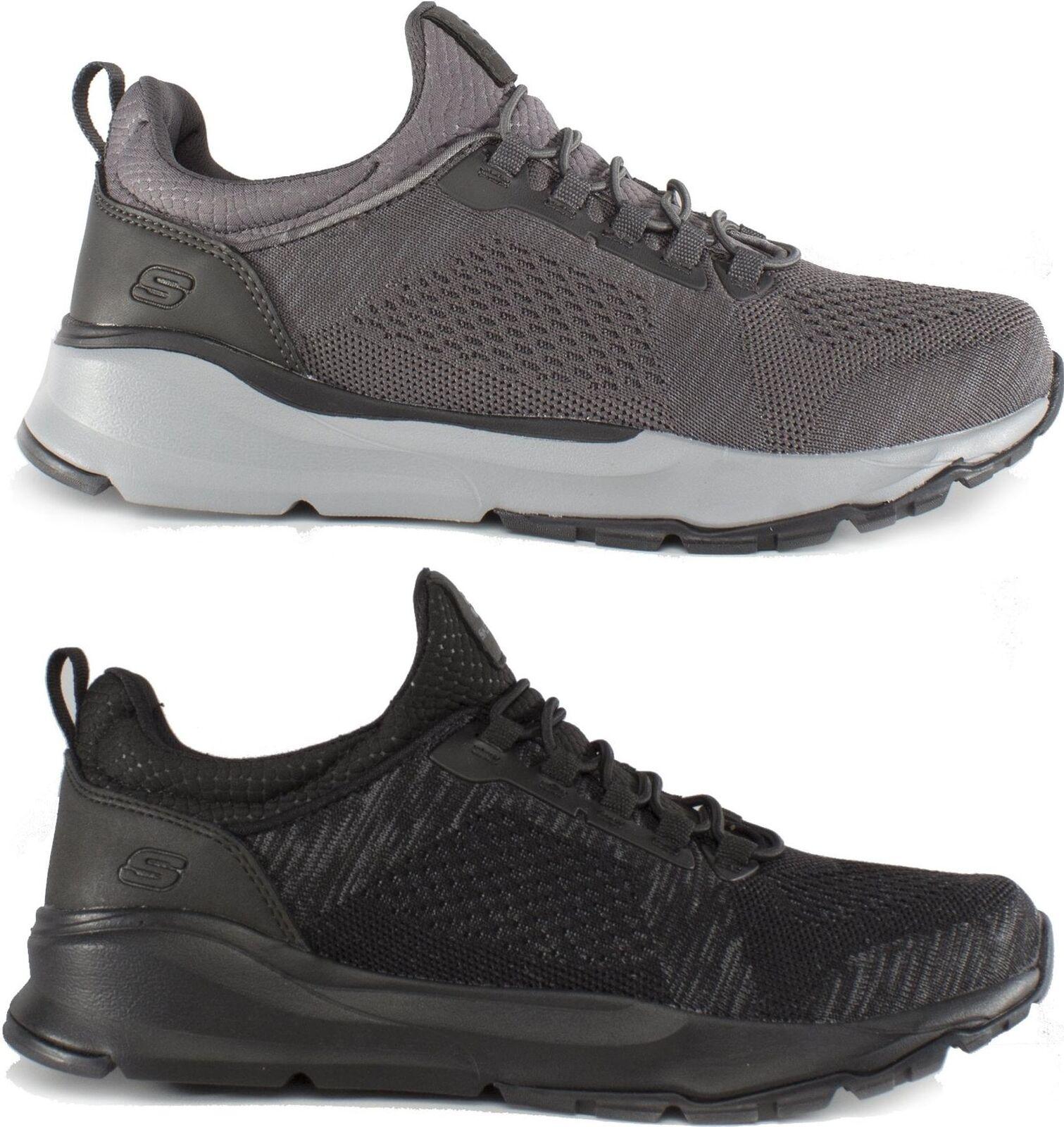 Skechers RELVEN RENTON Mens Textile Mesh Casual Lace Up Sports Trainers shoes