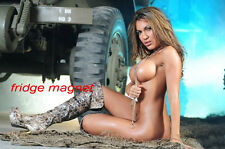 Sexy Hot Model Brunette Girl Bikini Fridge Tool Box Magnet Refrigerator M48