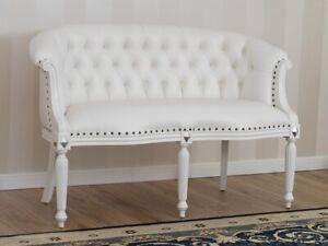 Divano Barocco Moderno.Dettagli Su Divano Isabelle Stile Barocco Moderno 2 Posti Bianco Laccato E Foglia Argento Ec