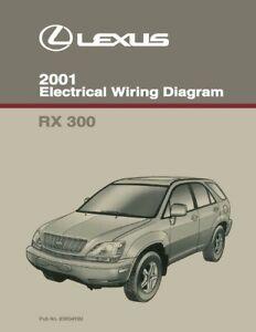 2001 Lexus RX 300 Wiring Diagrams Schematics Layout Factory OEM | eBay