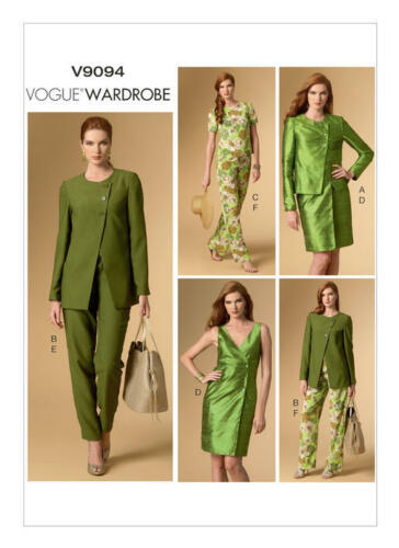 V9094 Vogue Sewing Pattern 9094 Wardrobe Misses/' Jackets Top Dress Pants Outfit