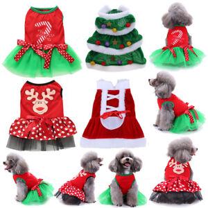 Christmas Pet Costumes.Santa Christmas Dog Dress Puppy Cat Coat Winter Clothes Pet Costumes