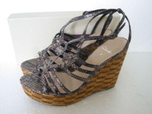 New clarks écaille de tortue wedge sandales taille 7 /& 8