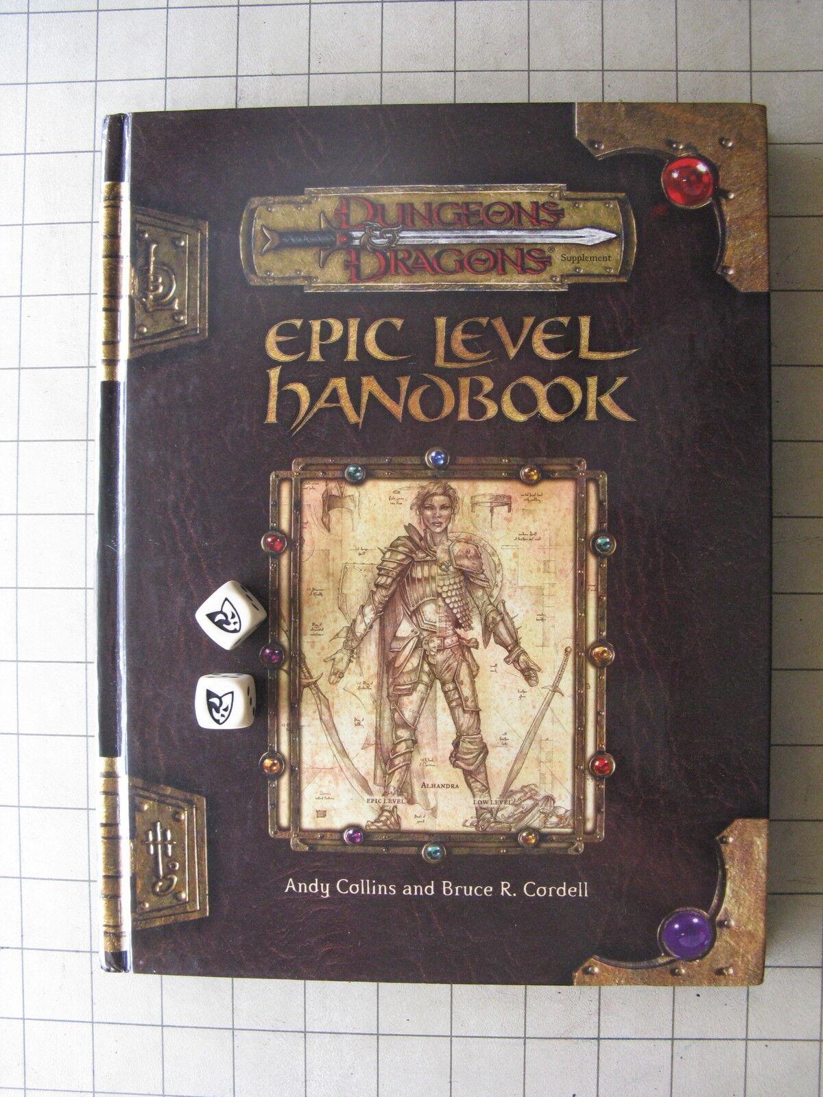 Autographed EPIC LEVEL HANDBOOK Olidimarra's Dice D&D 3.5 D20 Dungeons & Dragons