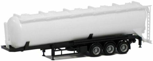 Herpa SZ Kippsiloauflieger 60m³ Kippsilo-SZ Feldbinder ADR weiß Chassis schwarz