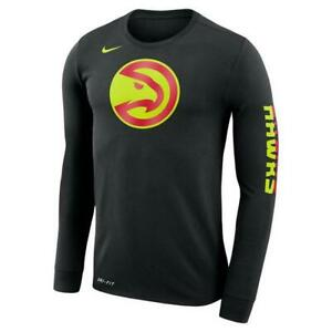 Atlanta-Hawks-Mens-Nike-Logo-Dri-Fit-Cotton-Long-Sleeve-T-Shirt-XXL-amp-XL-NWT