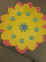 Sears Garden Grove Resin Sun Flower Bathroom Soap Dish Pink Yellow Blue