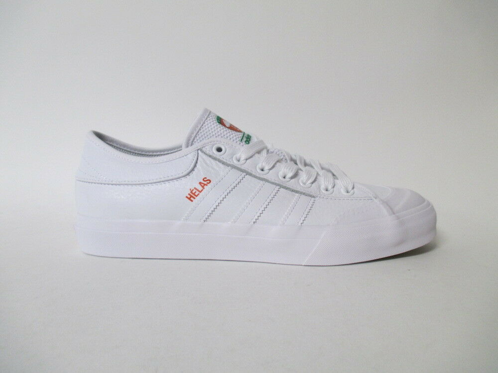 Adidas Matchcourt x Helas White Green orange Sz 10 BY4535