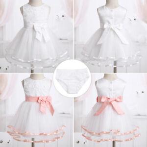 9ed81afc4e8a Image is loading Baby-Girl-Baptism-Princess-Tutu-Dresses-Infant-1st-