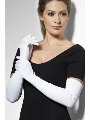Donna Lungo Opera Guanti Bianchi Matrimonio Nuziali Da Sera Party Flapper Costume-mostra Il Titolo Originale