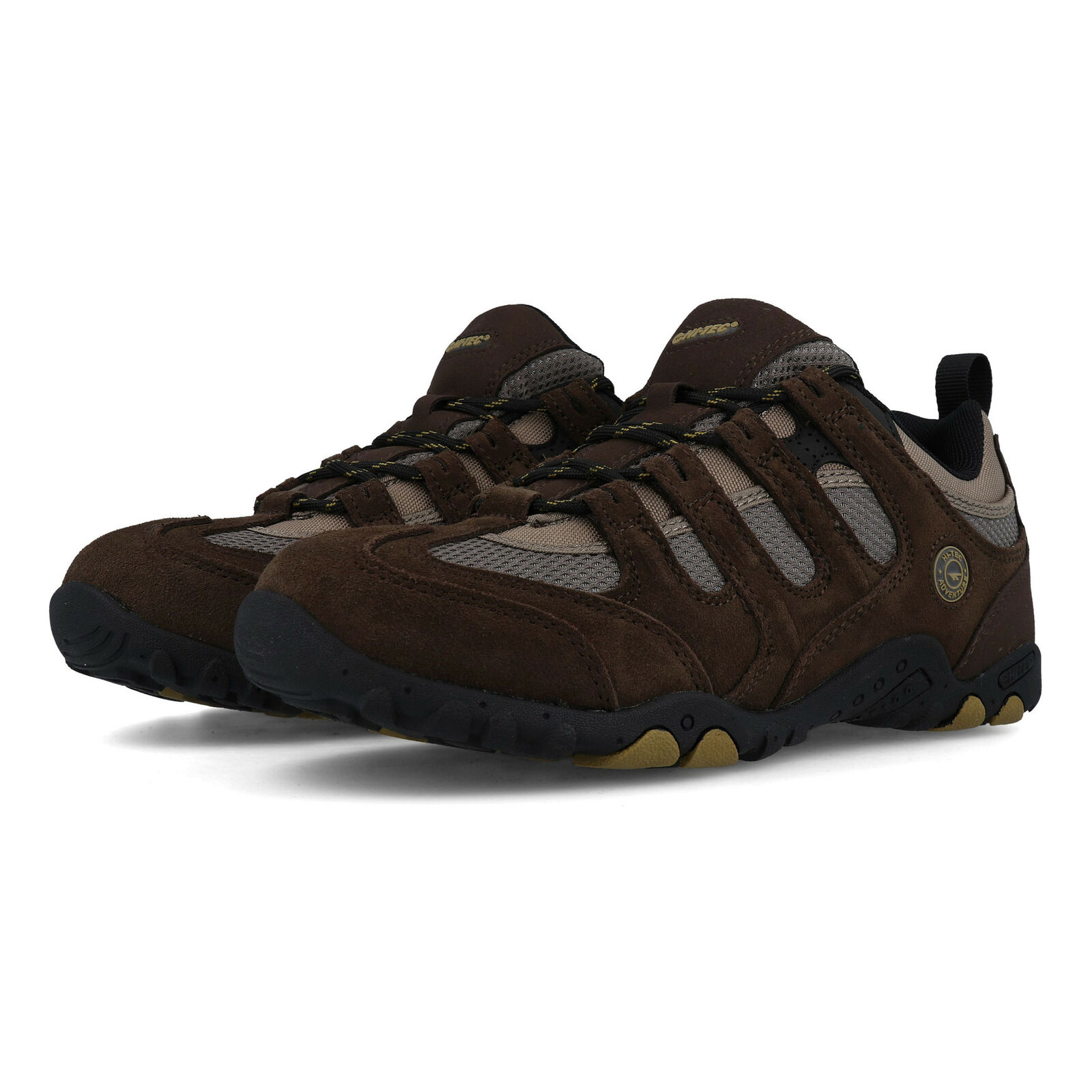 Hi-Tec Mens Quadra Classic Walking shoes Brown Sports Outdoors Breathable Suede