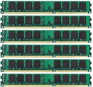 6x4GB PC3-8500R 1066MHz DDR3 ECC Reg Memory Supermicro X8DTH-iF Server 24GB