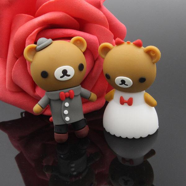 Cute bears model USB 2.0 Memory Stick Flash pen Drive 4GB 8GB 16GB 32GB P160