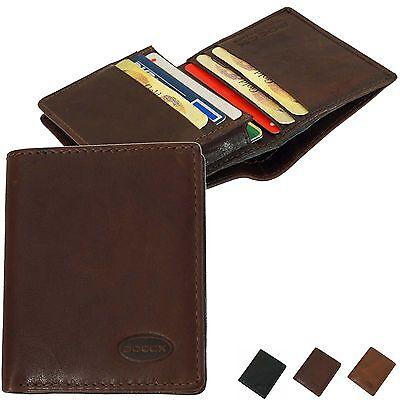 Boccx Kreditkartenetui Leder Kartenbox Kreditkartenbörse Mit Scheinfach 50026