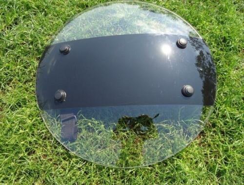 Transparent PC Plastic Round Shield Police SWAT Riot Shield for Security Protect