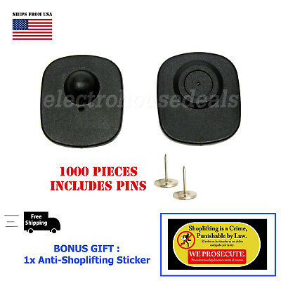 1000 Flathead Pins For Security Tags Checkpoint Compatible Eas Loss Prevention