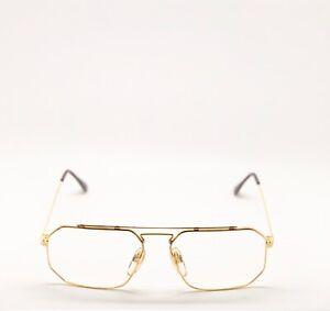 Vintage-Hilton-Special-6-Gold-Eyeglasses-Lunettes-Optical-Frame-Eyewear-Glasses