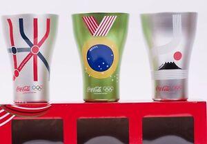 Olympic Design Coca Cola Aluminum Tumbler London Rio Tokyo Set of 3 Japan F//S